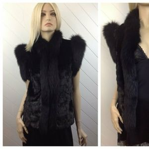 Vintage Saga Genuine Fox & Mink Fur Vest